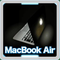 Macbook Airイラスト 光るアップルのロゴマークがある最後のノート Computer